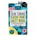 Oh K! SOS Toning Peacock Print Mask